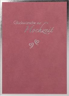 Glückwunschkarte Hochzeit Mark Twain Herzen 6 St Kuvert Gold-Prägung Glück - Vorschau