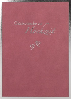 Glückwunschkarte Hochzeit Mark Twain Herzen 6 St Kuvert Gold-Prägung Glück