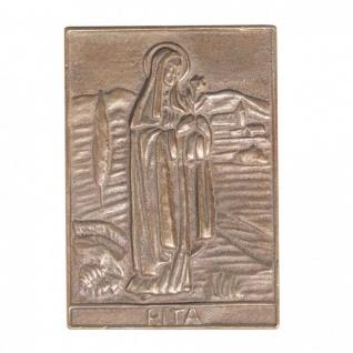 Namenstag Rita 8 x 6 cm Bronzeplakette Bronzerelief Wandbild Schutzpatron