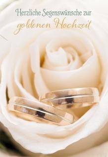Hochzeitskarte Herzliche Segenswünsche zur goldenen Hochzeit (6 Stck)