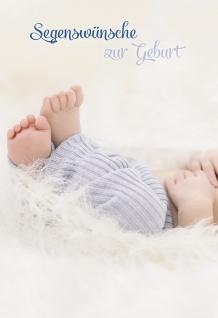 Glückwunschkarte Segenswünsche zur Geburt (6 St) Händchen Füßchen Lutherbibel