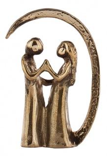 Bronzeminiatur Die Liebenden 4 cm Bronze Skulptur Bronze Figur