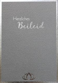 Trauerkarte Herzliches Beileid Joseph von Eichendorff Grußkarte Kuvert (6 Stück)