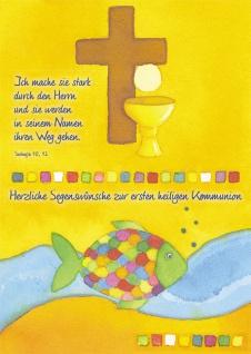 Kommunionkarte Herzliche Segenswünsche Kommunion (6 St) Grußkarte Erstkommunion
