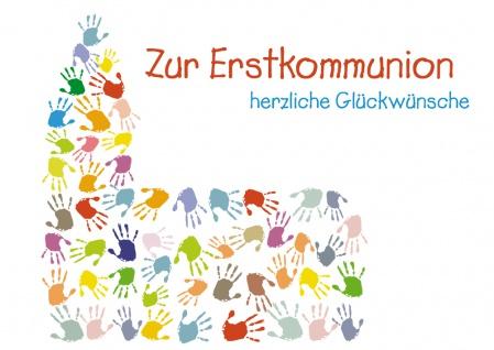 Glückwunschkarte Zur Erstkommunion herzliche Glückwünsche (6 St) Kirche Osterlad