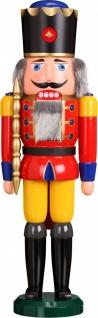 Nussknacker König rot 60 cm Holz-Figur Handarbeit aus Seiffen im Erzgebirge