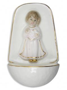 Weihwasserkessel Engel rosa Porzellan 10 cm Weihwasserbecken Mädchen Zuhause