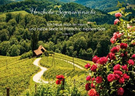 Postkarte Geburtstag 10 St Adressfeld Bibelwort Jesaja Segens-Wunsch Gratulation