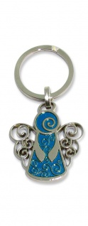 Schlüsselanhänger Schutzengel blau 7 cm Engel Anhänger