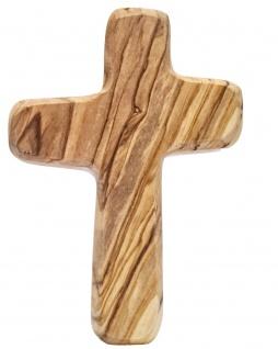 Handschmeichler Kreuz zum Gebet 10cm Holzkreuz Olivenholz Bethlehem