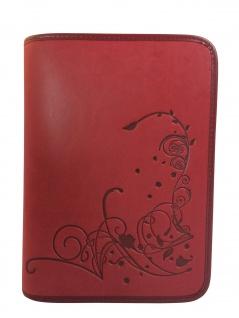 Gotteslobhülle Blumen Blüten Kunstleder Rot Gesangbuch Einband Katholisch