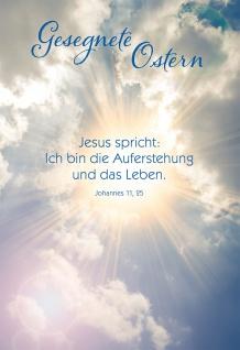 Glückwunschkarte Johannes Lutherbibel Gesegnete Ostern Bibelwort Kuvert 6 Stk