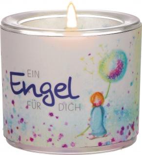 Windlicht Engel Glas Teelicht Geschenkverpackung Pergament-Umleger
