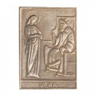 Namenstag Vera 8 x 6 cm Bronzeplakette Bronzerelief Wandbild Schutzpatron