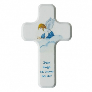 Kinderkreuz Dein Engel sei immer bei dir 11 cm Wandkreuz Holz Kreuz