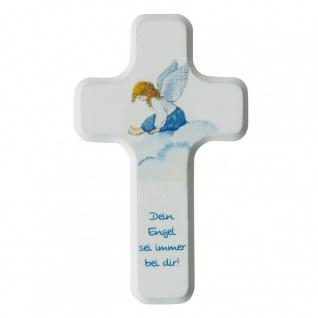 Kreuz für Kinder Dein Engel 11 cm Kruzifix Holz-Kreuz Wandkreuz