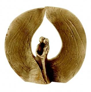 Bronze Skulptur Unter seinem Schutz - Zur Hochzeit 12, 5 x 14 cm