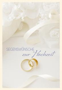 Glückwunschkarte Hochzeit Rosen 6 St Kuvert Bibelwort Korinther Segen Ringe