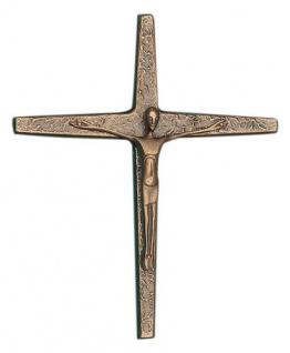 Wandkreuz Bronzekreuz Kreuz 19 x16 cm Körper Korpus Kruzifix Christoph Fischbach