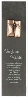 Schieferrelief Von guten Mächten Dietrich Bonhoeffer 10 cm