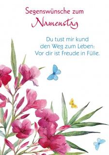Postkarte Namenstag Bibelwort 10 St Adressfeld Blumen Psalm Freude Weg Glaube