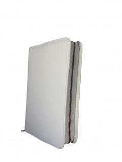 Gotteslobhülle Rindleder Weiß Reißverschluss Gesangbuch Einband Katholisch