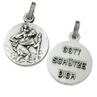 Anhänger Christophorus Gott schütze Dich 1, 5 cm Religiöser Schmuck