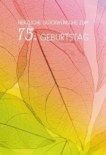 Glückwunschkarte Herzliche Segenswünsche zum 75. Geburtstag (6 St) Kuvert