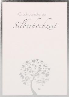 Glückwunschkarte Silberhochzeit 6 St Kuvert Wilhelm Busch Jubiläum Treue Liebe