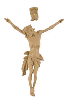 Corpus Jesus Christus mit INRI, hell 10 cm - Vorschau