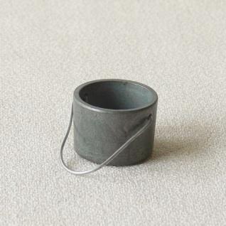 Zinnkessel Metall handgefertigt 3, 5 cm Zubehör für Weihnachtskrippe