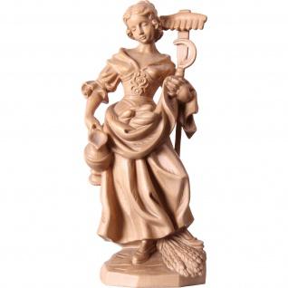 Heilige Notburga Holzfigur, geschnitzt gebeizt Südtiroler Schnitzkunst