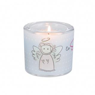 Glaswindlicht Ein Engel Teelicht Kerzenhalter Geschenkbox Glas für Windlicht