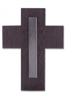 Wandkreuz Wengeholz Holz-Kreuz Kruzifix Glaseinlage 21 cm