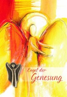 Genesungskarte Engel Bronzefigur Genesung (5 St.) Genesungswünsche Kuvert
