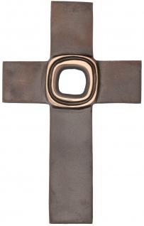 Schmuckkreuz Kruzifix Bronze Kreuz Patiniert Herbert Fricke