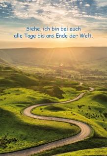 Grußkarte Klappkarte Bibelwort 6 Stück Kuvert Lutherbibel Matthäus Schutz