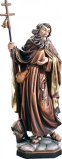 Heiliger Adelrich Mönch Eremit Holzfigur geschnitzt Südtirol