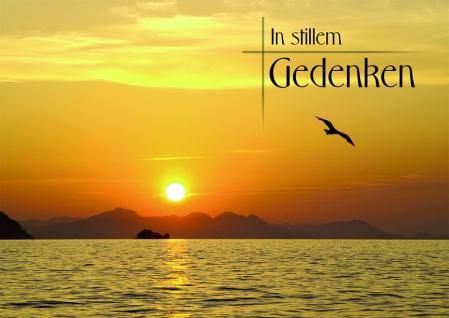 Trauerkarte In stillem Gedenken Psalm 118 (6 Stck) Bibel Beileid Kondolenzkarte