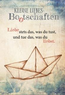 Grußkarte Kleine Liebes Bootschaften Nicole Weidner Grußkarte (6 Stück Kuvert)