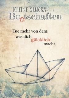 Postkarte Kleine Glücks Bootschaften (10 St) Papierboot Nicole Weidner
