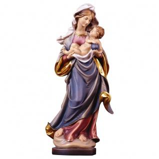 Marienstatue Mauch Madonna Holz geschnitzt handbemalt Südtirol Schnitzkunst