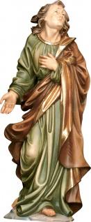 Heiliger Johannes unterm Kreuz Holzfigur geschnitzt Südtirol Schutzpatron