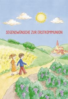 Glückwunschkarte Erstkommunion Bibelwort (6 St) Grußkarten Kommunion