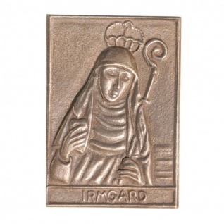 Namenstag Irmgard 8 x 6 cm Bronzeplakette Bronzerelief Wandbild Schutzpatron