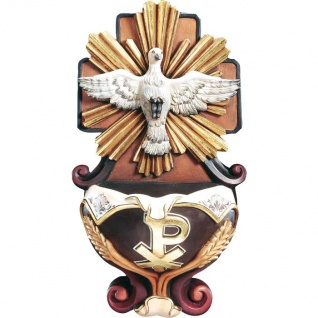 Weihwasserkessel Heiliger Geist Holzfigur geschnitzt Südtirol