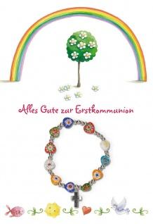 Kommunionkarte Armband Alles Gute (5 Stck) Glückwunschkarte Erstkommunion Kuvert