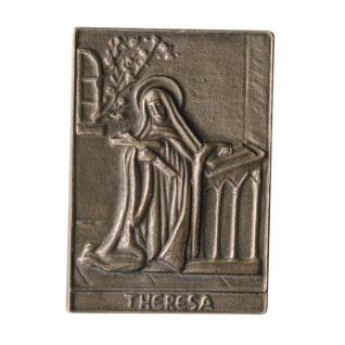 Namenstag Theresa 8 x 6 cm Bronzeplakette Bronzerelief Wandbild Schutzpatron