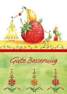 Genesungskarte Gute Besserung (6 Stck) Genesungswünsche Grußkarte Kuvert