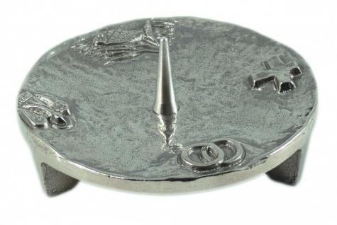 Kerzenständer 4 christliche Symbole Silberbronze 11 cm